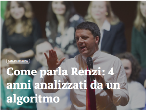 CoLing Lab analyzes the language of Matteo Renzi on Facebook